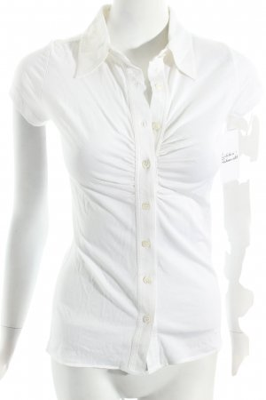 Allude Polo-Shirt weiß klassischer Stil