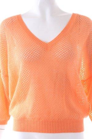 Allude Pullover mit Lochmuster orange