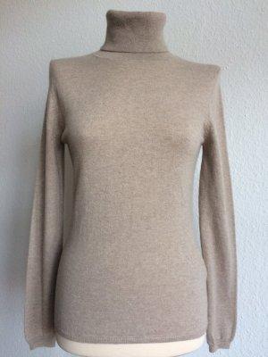 ALLUDE Pullover Rollkragen Gr. S 100% Cashmere beige