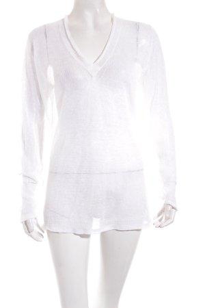 Allude Pullover wollweiß Transparenz-Optik