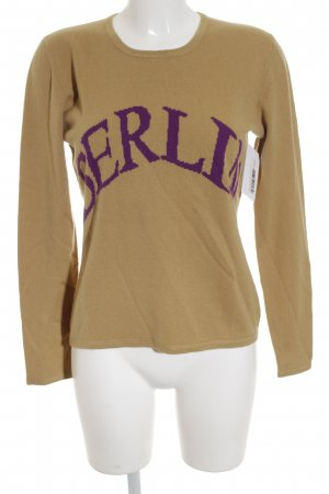 Allude Crewneck Sweater camel-lilac casual look