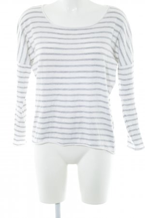Allude Crewneck Sweater white-light grey striped pattern casual look