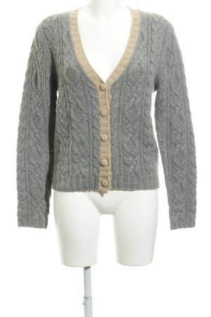 Allude Knitted Cardigan grey-beige fluffy