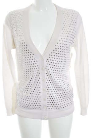 Allude Knitted Cardigan natural white rockabilly style