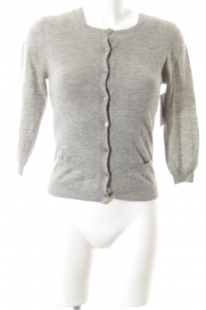 Allude Knitted Twin Set light grey-grey flecked simple style