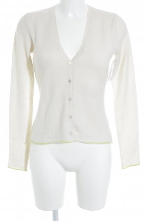 Allude Cardigan cream-neon yellow casual look
