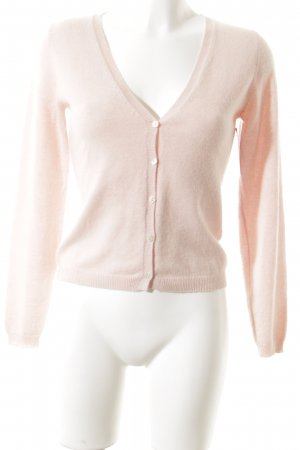 Allude Cardigan light pink simple style