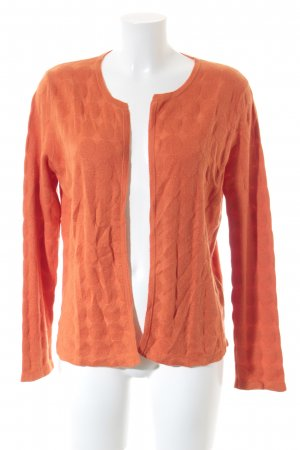 Allude Cardigan neon orange loosely knitted pattern casual look