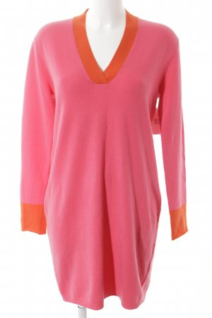 Allude Knitted Dress pink-orange '70s style
