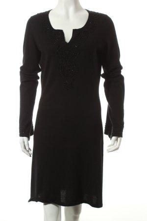 Allude Strickkleid schwarz Eleganz-Look