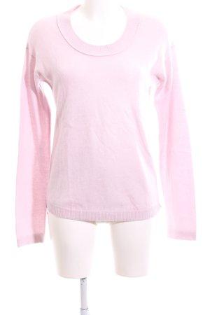 Allude Maglione lavorato a maglia rosa stile casual