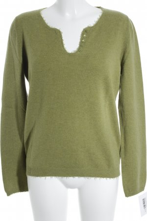 Allude Knitted Sweater grass green casual look