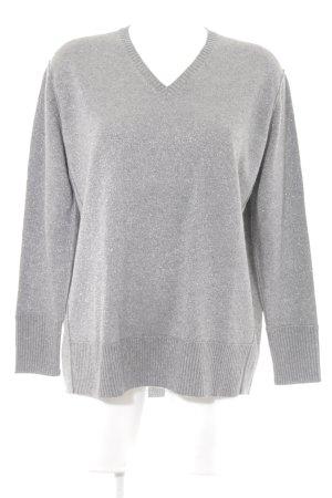 Allude Maglione lavorato a maglia grigio-argento con glitter