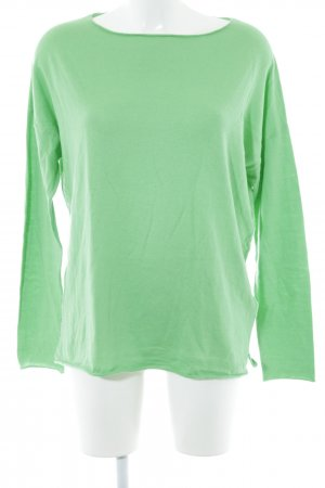 Allude Knitted Sweater lime-green casual look