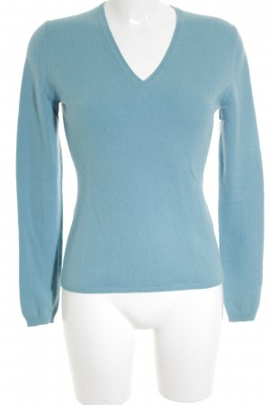 Allude Strickpullover himmelblau Casual-Look