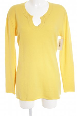 Allude Knitted Sweater lime yellow casual look