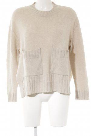 Allude Knitted Sweater nude casual look