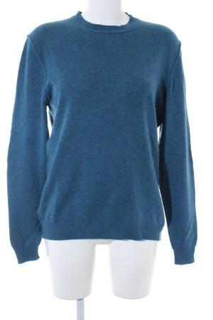 Allude Maglione lavorato a maglia blu acciaio stile casual