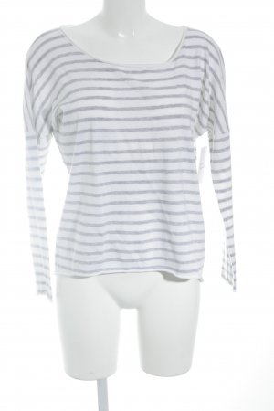 Allude Knitted Sweater white-grey striped pattern casual look