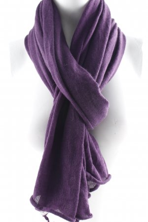Allude Knitted Scarf lilac casual look