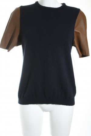 Allude Strickshirt braun-dunkelblau Casual-Look