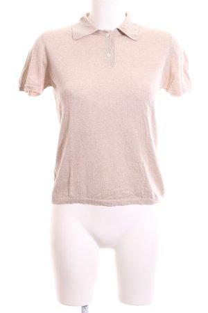 Allude Camicia maglia color carne puntinato stile casual