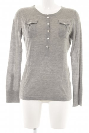 Allude Knitted Jumper light grey casual look