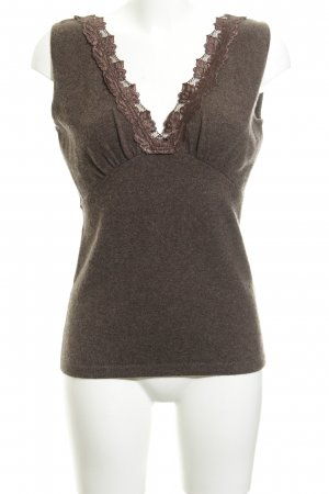Allude Knitted Top dark brown elegant