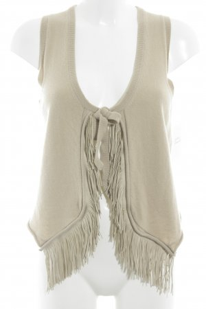 Allude Knitted Vest beige casual look