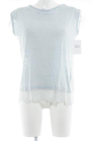 Allude T-shirt azzurro stile romantico