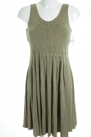 Allude Pinafore dress olive green casual look