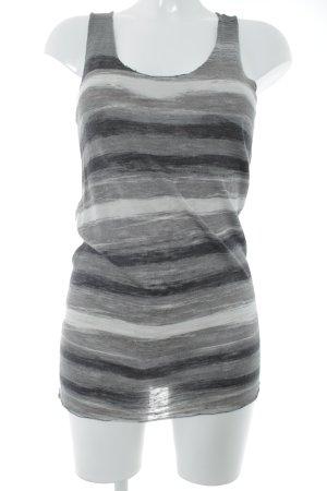 Allude Canotta a bretelle grigio-beige chiaro strisce orizzontali stile casual