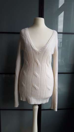 Allude Traum Designer Kaschmir Pullover Cashmere Creme weiss 34 Xs