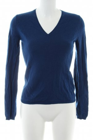 Allude V-Ausschnitt-Pullover blau Casual-Look