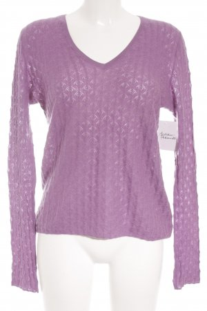 Allude V-Neck Sweater blue violet fluffy
