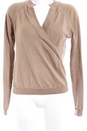 Allude V-Ausschnitt-Pullover camel Casual-Look