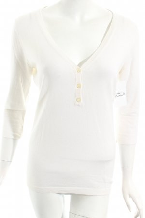 Allude V-Ausschnitt-Pullover creme Casual-Look