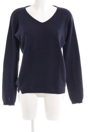 Allude V-Ausschnitt-Pullover dunkelblau Casual-Look