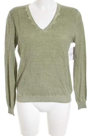 Allude V-Neck Sweater grass green casual look