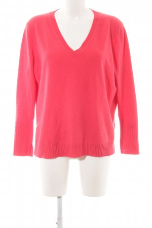 Allude V-Neck Sweater bright red street-fashion look
