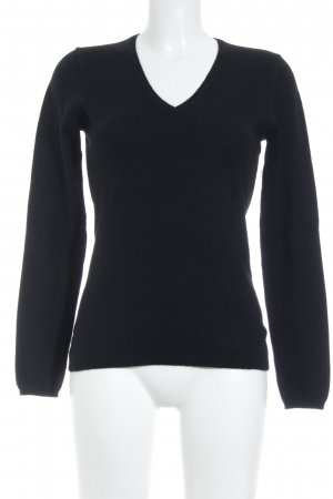 Allude V-Neck Sweater black casual look