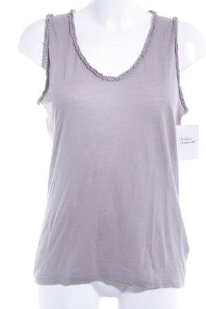 Allude V-Ausschnitt-Shirt graubraun Casual-Look