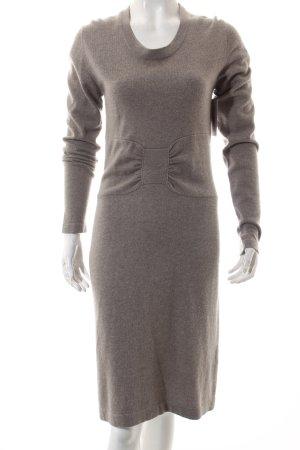 Allude Wollkleid graubraun Elegant