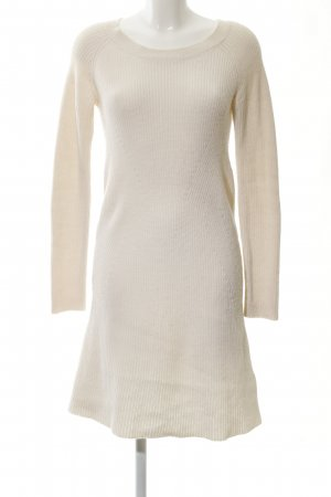 Allude Woolen Dress natural white weave pattern casual look
