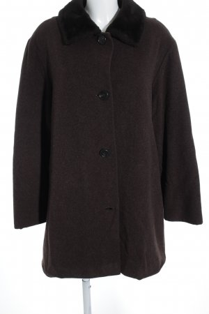 Allude Wool Coat dark brown casual look