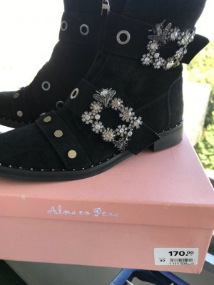 Alma en Pena Low boot noir cuir