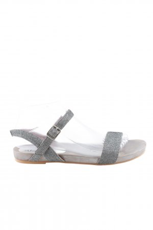 Alma en Pena Strapped Sandals silver-colored casual look