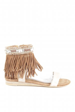 Alma en Pena Strapped Sandals brown-cream casual look