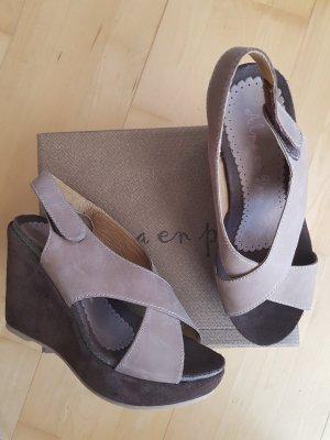 Alma en Pena Plateauzool sandalen grijs-bruin-donkerbruin