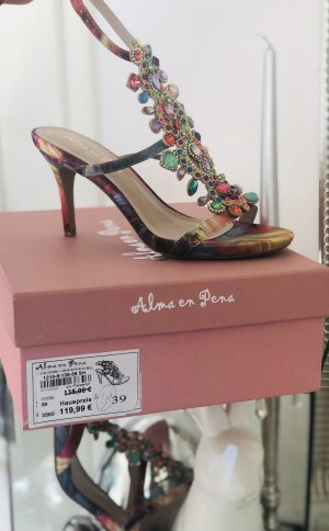 Alma en Pena Strapped High-Heeled Sandals multicolored leather